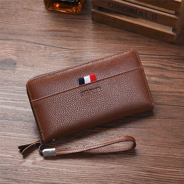 Men Wallet Men' Purse Business Zipper Pocket Purses Men Wallet Luxury Designer Brand Clutch Long Purses Men's Multi-card Wallets