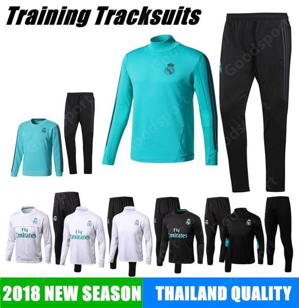 17 18 REAL MADRID Tracksuits Training KITS outfits Pants Soccer Jerseys Ronaldo ASENSIO Football SERGIO RAMOS NEW HOT green sale