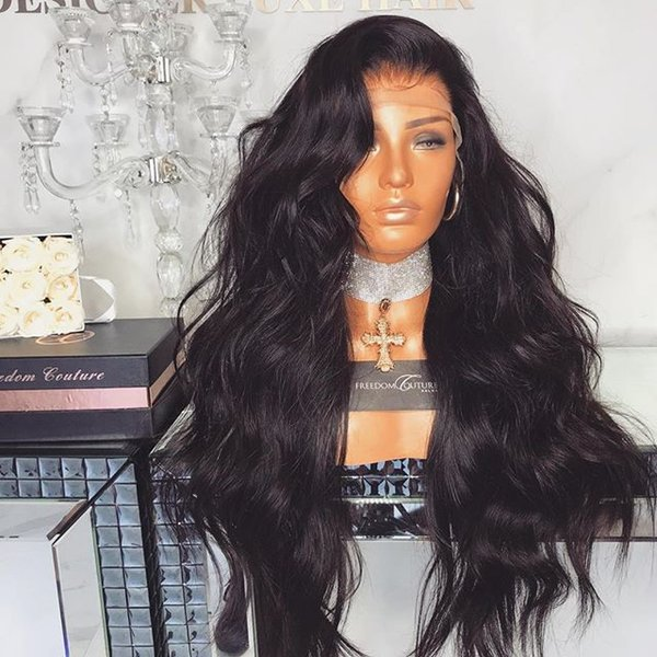 Full lace virgin wig human hair no shedding smooth soft 100% unprocessed real raw remy long natural color kinky straight
