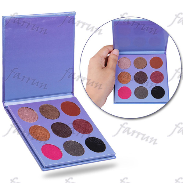no logo 9 color paper eye shadow palette gliter wet powder easy makeup accept your logo print Eye makeup