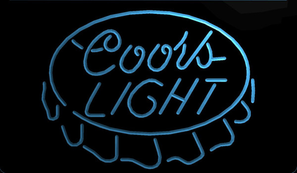 LS1330-b-Coors Beer Cap Bar Pub 3D LED Neon Light Sign Customize on Demand 8 colors to choose