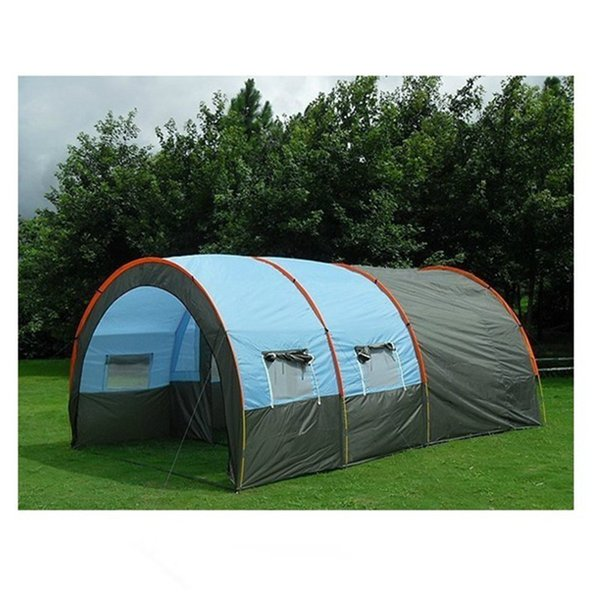 Great Camping Tent Fabric Fiber of Glass Seal 5 To 8 - 10 Person Family Tent Tunnel Equipment, Outdoor Climbing Party