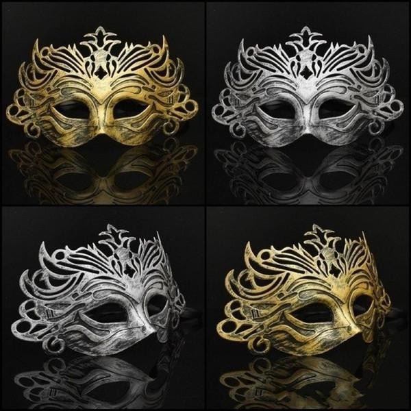 Super Mercado Sexy Sólidos Unisex Masquerade Máscara Do Partido Máscara Moda Adultos Romanos