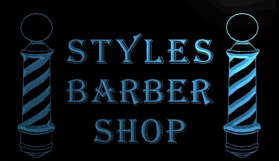 LS633-b-Styles-Barber-Shop-Display-Hair-Neon-Light-Sign Decor Free Shipping Dropshipping Wholesale 8 colors to choose