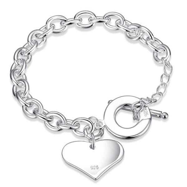Wan Xin TO hand chain sterling silver plated bracelet ; Hot sale fashion men and women 925 silver bracelet SPB285