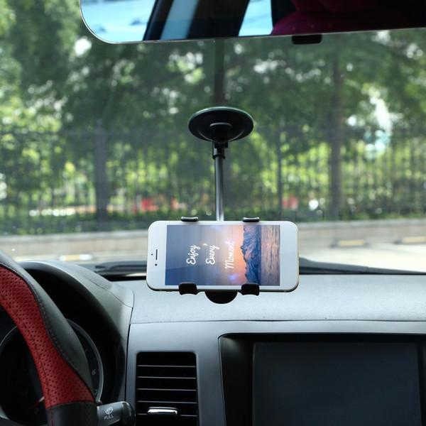 car mount holder bracket Universal 360 Degrees Rotation Lazy Non-slip Windshield Car Mount Holder Bracket for GPS Mobile Phone