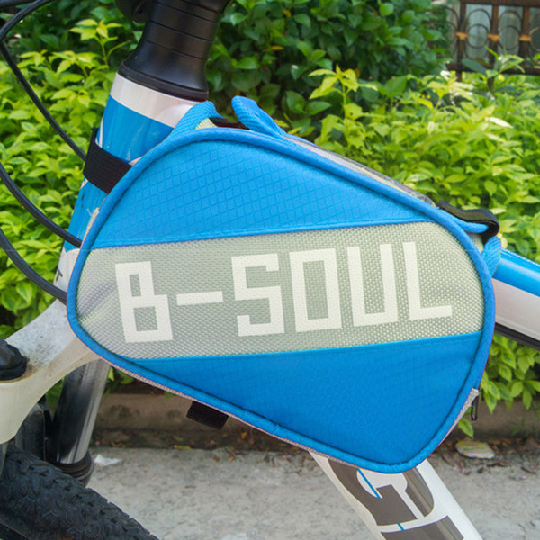 The bicycle saddle bag pipe package PVC touch screen Oxford cloth waterproof front beam package 2L large capacity b-soul
