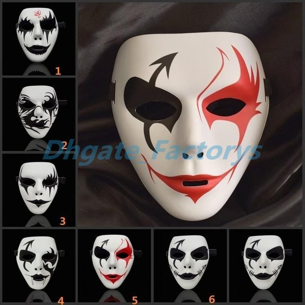 Hip hop Mask hand painted Masks Festival Celebrations Masquerade Dances Clown Masks COSPLAY Halloween Party Decorations