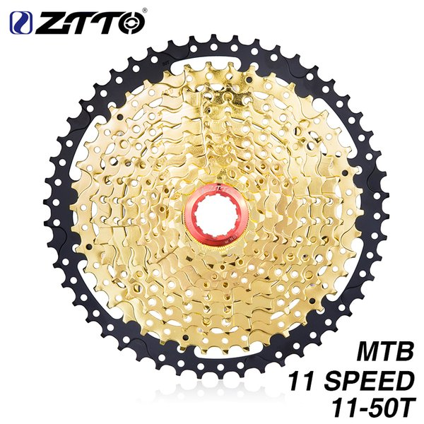ZTTO MTB Bike 11Speed 11-50T SL Black&Gold Cassette Freewheel Bicycle Parts Gears K7 for XT X1 X01 X1