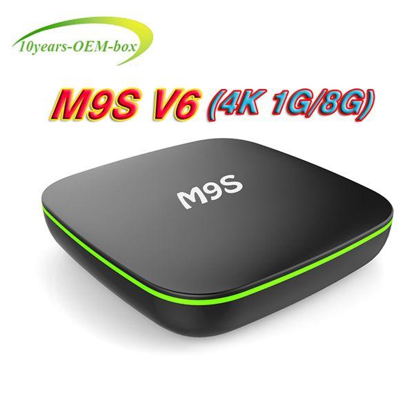 Android 7.1 TV Box MXQ pro M9S V6 4K Quad Core 1GB/8GB Amlogic Rockchip RK3229 Smart TV Box suport WIFI 3D 4K IPTV