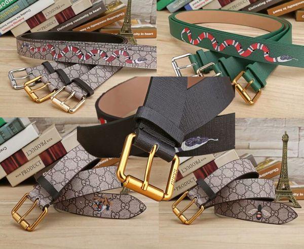 commercio all'ingrosso serpente tigre ape cinture lettera pin fibbia 15 modello famoso design di alta qualità cintura di lusso per uomini e donne