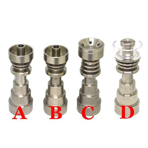 6 in 1 Domeless Titanium Nail GR2 Titanium Nail quartz joint 10mm 14mm 18mm For Glass bong water pipe glass pipes Universal Convenient