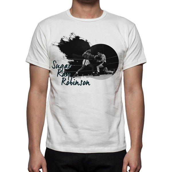 Men's Boxing Sugar Ray Robinson Tribute T-Shirt M97 Mens 2018 fashion Brand T Shirt O-Neck 100%cotton T-Shirt