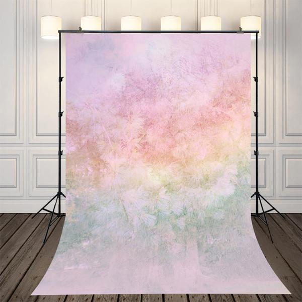 Contesto di fotografia floreale arcobaleno grunge, bambini fotografia sfondo, neonati dipinti fondali photobooth XT-4286