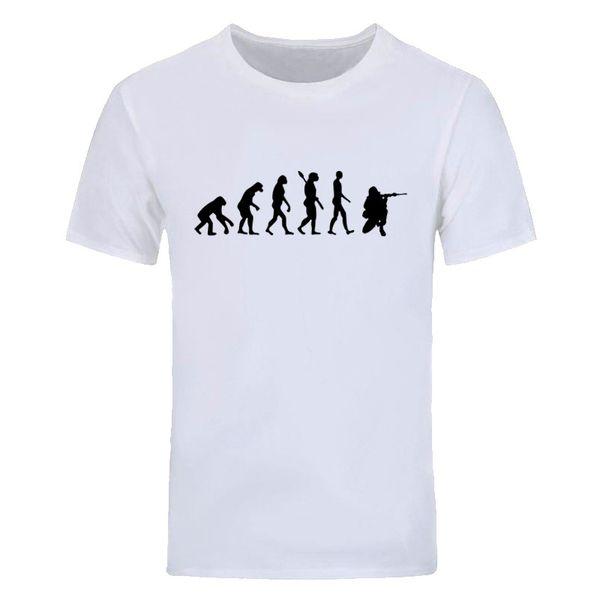 New Summer Fashion Soldier Évolution T Shirt Hommes À Manches Courtes Coton Soldier Hommes casual T Shirts Tops Tees DIY-0647D