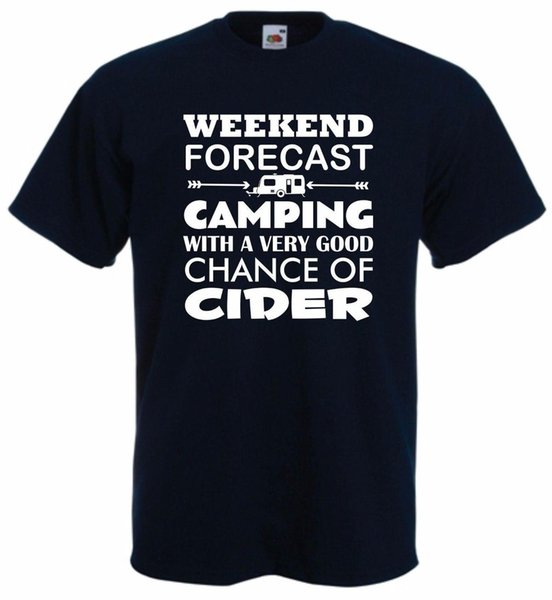 Caravan Cider T-Shirt Funny Camping TShirt Weekend T Shirt Alcohol S-XXL