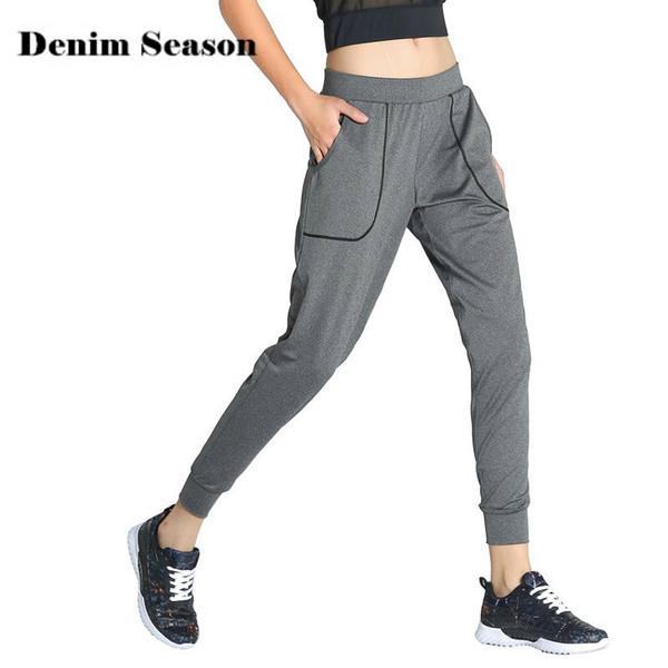 Femme De Formation Gris Rapide28 Sportwear Denimseason Séchage Yoga Sarouel Acheter 78 Pantalon À Respirant Sport Course CeorxdB