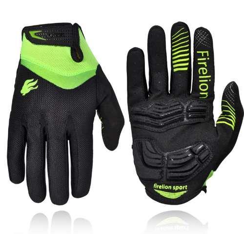 FIRELION Outdoor Vollfinger Gel Touchscreen Radfahren Handschuhe Off Road Dirt Mountainbike MTB DH Downhill Motocross Handschuh