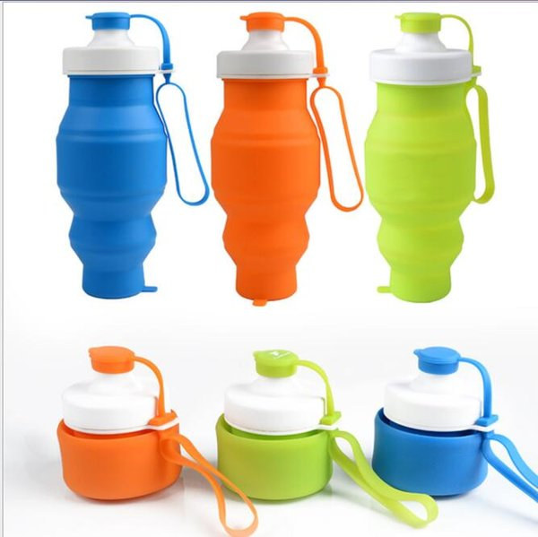 Water Bottle Collapsible Silicone Water Bottles for Outdoor Sports Travel