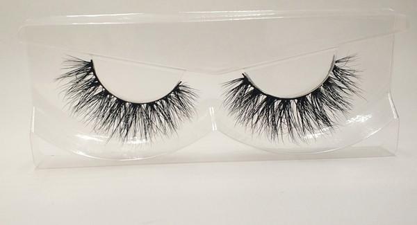 3D Mink False Eyelashes 100% Mink Fur Long Thick Hand-made Reusable Eyelashes Natural 1 Pair Pack MTL624