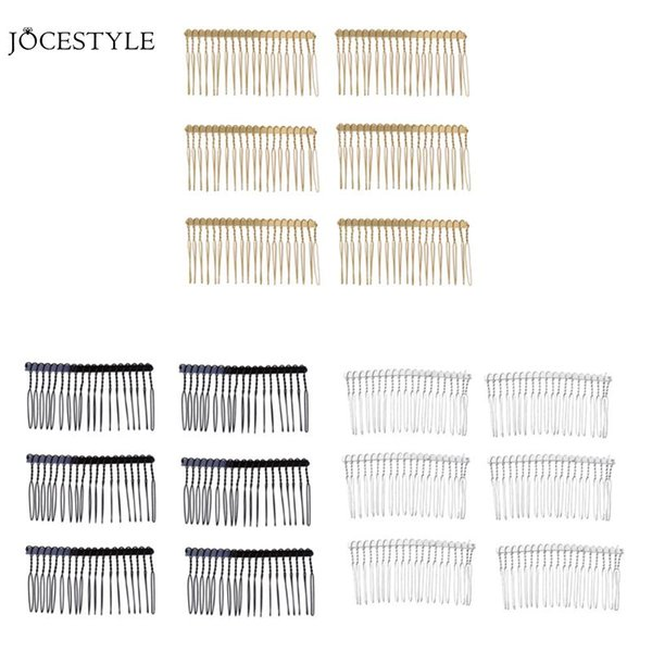 6pcs Metal Hair Comb Claw Hairpins Toothed Hairpin DIY Hair Jewelry Wedding Party Accessories