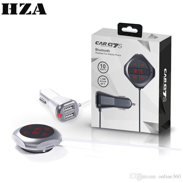 Q7S Wireless Car FM Transmitter Handsfree Bluetooth Car Kit Voltage Monitor MP3 Player Support TF Card Dual USB Car Charger