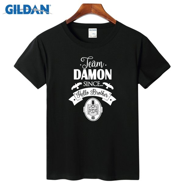 The Vampire Diaries Damon Mens Casual T Shirts 2017 Online Shopping Sites For Men's T Shirts Breathable Shirt Guys