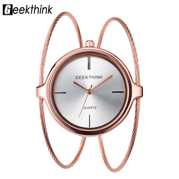 Fashion women simple design trend ladies ring bracelet watches lady casual dress quartz Unique luxury quartz wrist watches