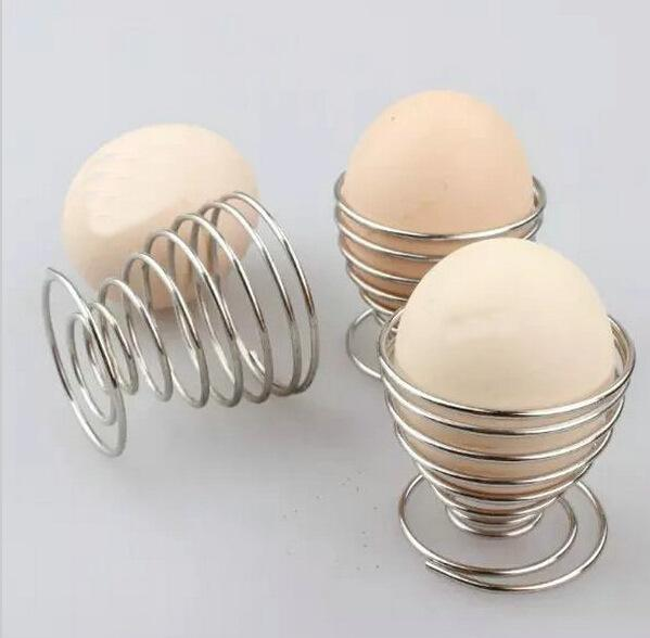 Stainless steel egg spring holding stand egg seat kitchen supplies