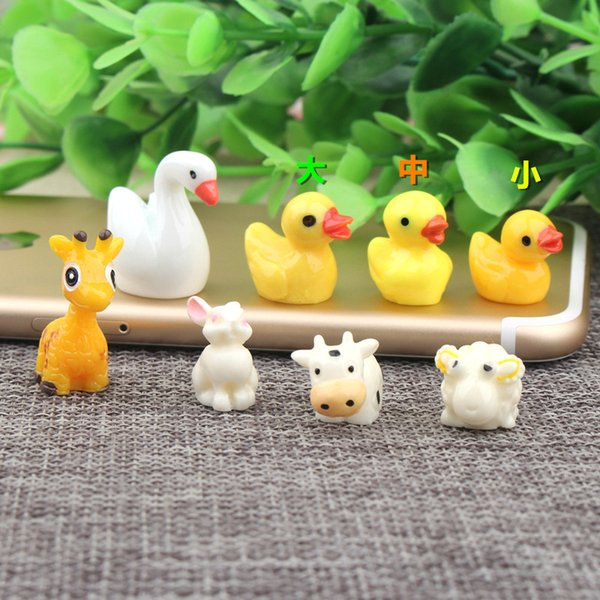 DIY resin 3D animal duck sheep cow farm charms Christmas kids kawaii cabochon resin craft jewelry making figure model ornament findings