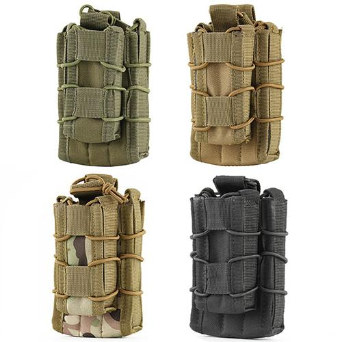 Double Decker Single Rifle Pistol Open Top Magazine Mag Pouch Bag