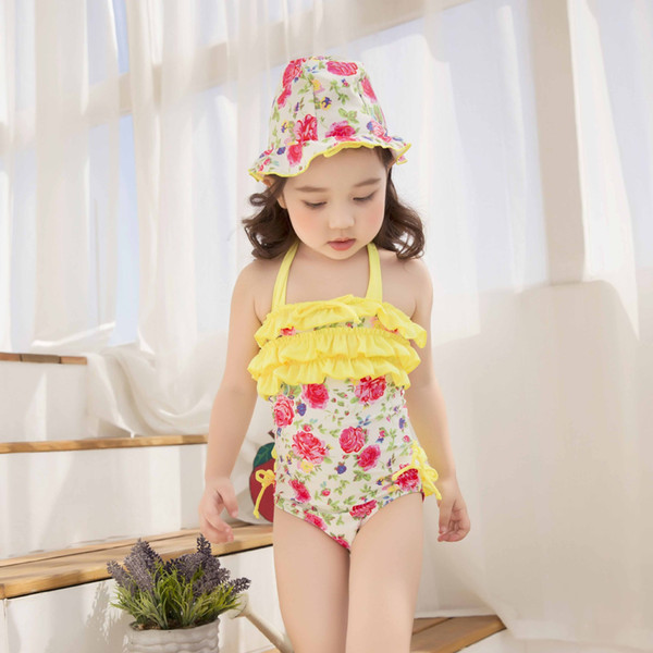 Sunseeker qi in 2018 the new children's swimsuit barbie girl fission bathing suit is prevented bask in wholesale long-sleeved girls swimsuit