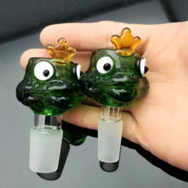 Frog cartoon glass bubble head Glass bongs Oil Burner Glass Water Pipe Oil Rigs Smoking Rigs Free