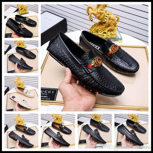 Italy Style Designer brand male casual flats shoe cowhide leather Slip-on Mocassin Metal Button men's suit shoe size 38-44