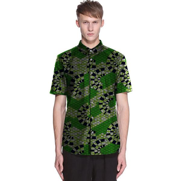 Men's African Dress Shirts African Ankara Shirts For Fen Long Sleeve Formal Dashiki Men Fashion Men Clothes
