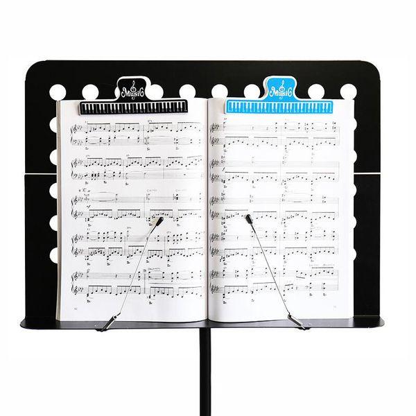 4pcs 15cm Musica di plastica Punteggio fisso Clip Libro titolare di carta per chitarra Violino Piano Player multifunzione Clip Forniture per ufficio