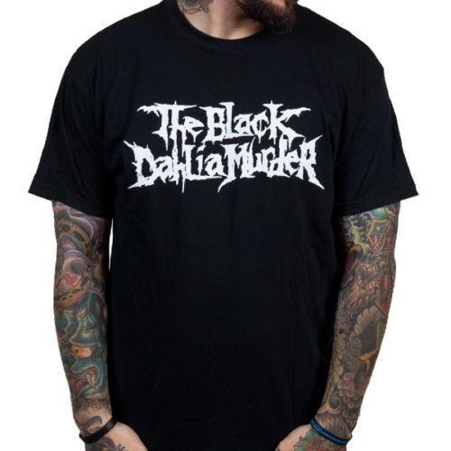 O Dahlia Assassinato Camisa Do Logotipo Preto S-3Xl T-Shirt Offik Banda De Metal Tshirt Preto T-shirt Da Camisa Dos Homens Namorado de Manga Curta Dia de Ação de Graças Custo