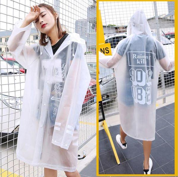 Adult fashion suit waterproof female men's outdoor single poncho thick non-disposable transparent raincoat