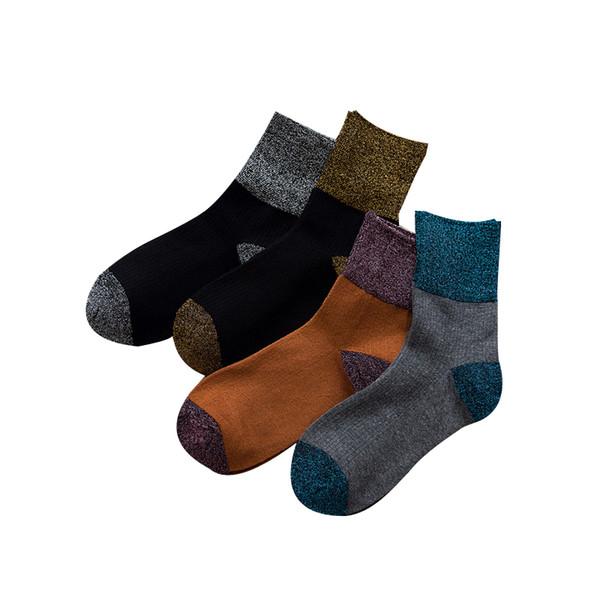 50PAIRS/LOT Women Fashion Socks Shining Surface Cotton Socks Women Street Wear Accessories Female Girls Harajuku Short Sock