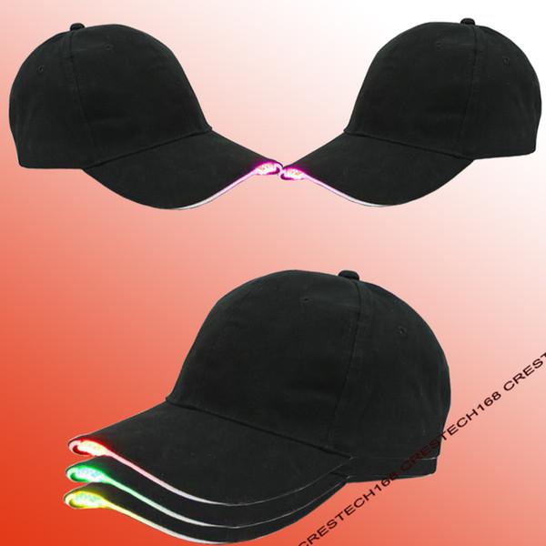 Mais novo Chapéus de Beisebol Levou Luminosa Partido Cap Mulheres Homens Hóquei Snapback Tampas de Bola de Basquete Unisex Fibra Óptica Chapéu Visor Turismo
