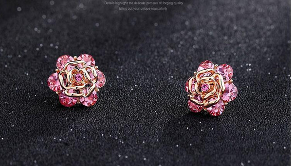 Korean rose small brooch suit mini corsage high-grade crystal collar flower blouse collar collar buckle accessories