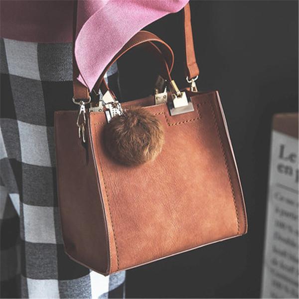 Woman handbags Fashion Retro Messenger Gag Korean Version Female trend PU Leather Bag Black Brown Red Grey Solid Party Bags Hot