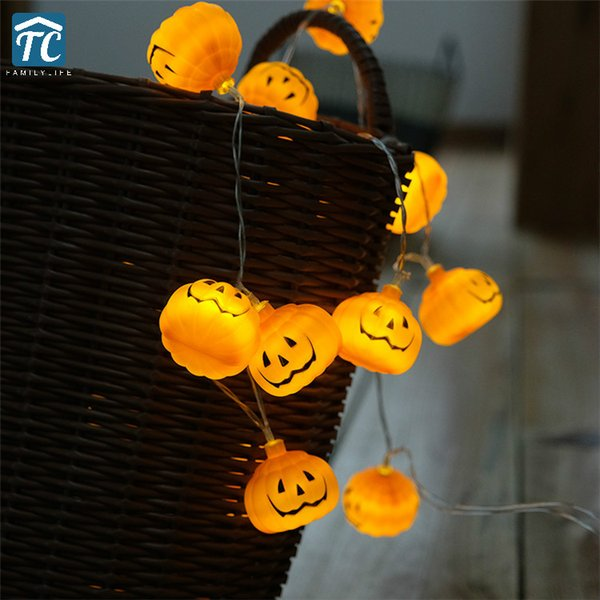 1M 2M 3M 5M Halloween Pumpkin String Light Battery Decorative Lighting LED Lantern Warm White Home Christmas Party Garden