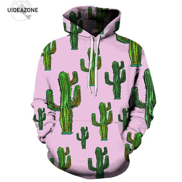 New Autumn Winter Hoodies Sweatshirt Men Women Casual Hip Hop Fashion Brand Male Clothing 2018 Plant Cactus 3D Tracksuit 5XL