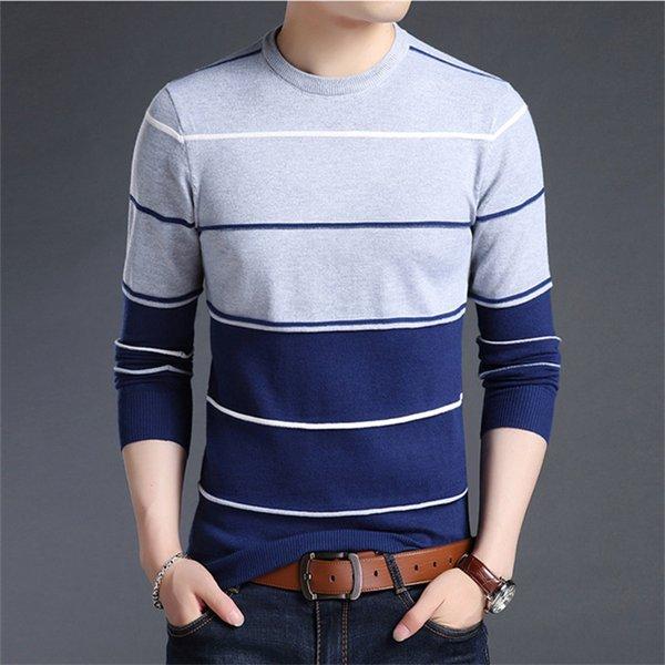 Compre Visada Jauna 2017 Casual Winter Men Sweater O Cuello Moda ...