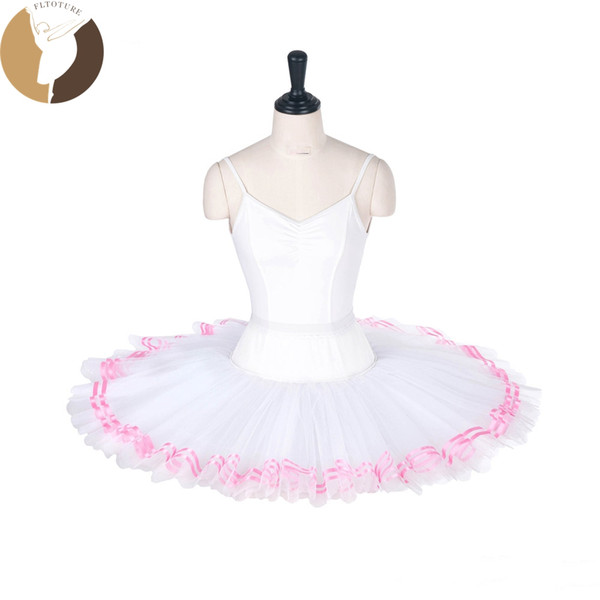 67d293ac9 ballet ribbons Promo Codes - FLTOTURE LL2003 Adult Ballet Half Tutus With  Ribbon Child Practice Half