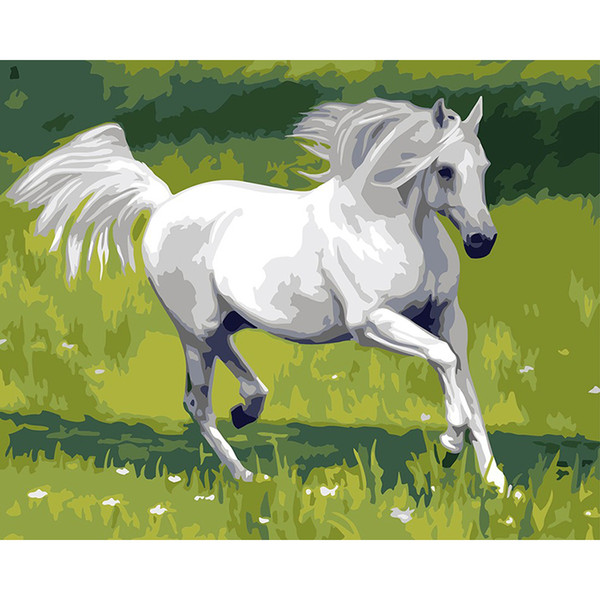 Frameless Horse Animals Diy Painting By Numbers Modern Wall Art Canvas Painting Hand Painted Unique Gift For Home Decoration