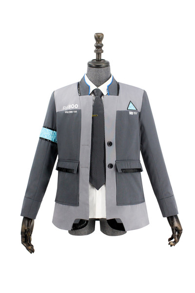 Takerlama New Game Detroit: Become Human Connor RK800 Agent Suit Uniform Tight Unifrom Cosplay Costume for Halloween