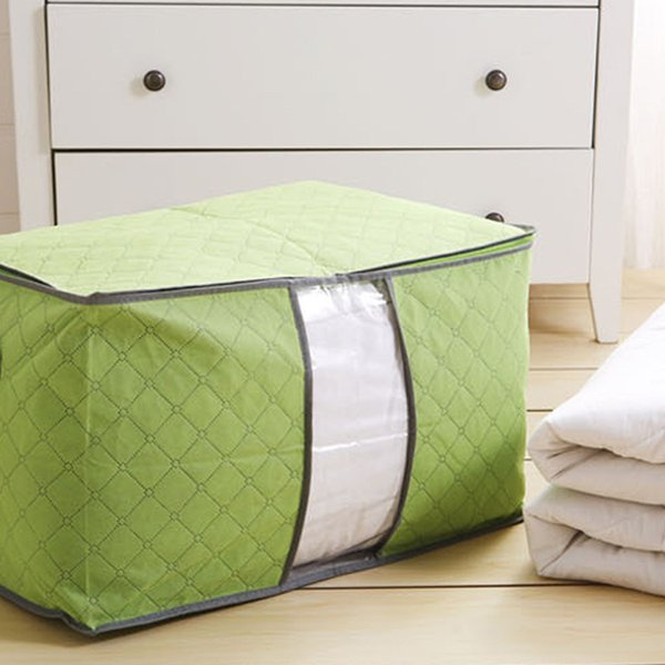 Duvet Storage Box Non-Woven Portable Foldable Family Space Save Quilt Organizer Clothes Bedding Pillow Storage Bag