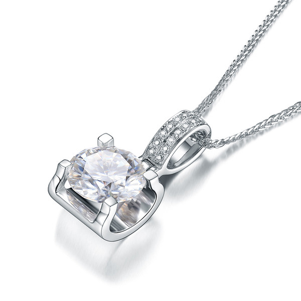 New Arrival 9k,14k,18k Gold Classic Bull Head Shape Pendant With Chain Lab Diamond Moissanite Stone Necklace With Certificate